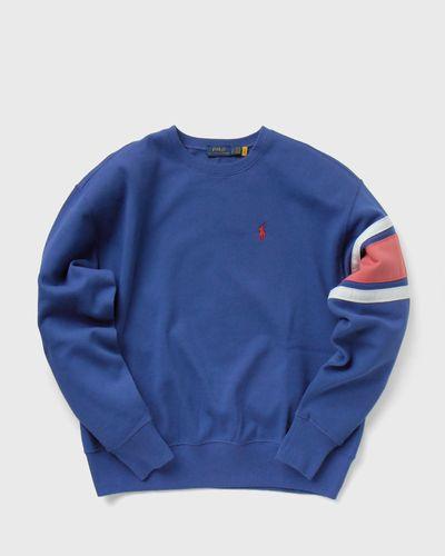 WMNS Striped-Trim Fleece Sweatshirt